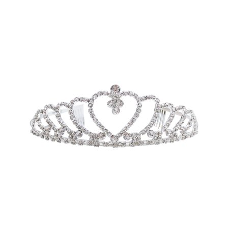 Simplicity Pageant Tiara and Crown Rhinestones Crystal Bridal Wedding, 957 - Cheap Tiaras