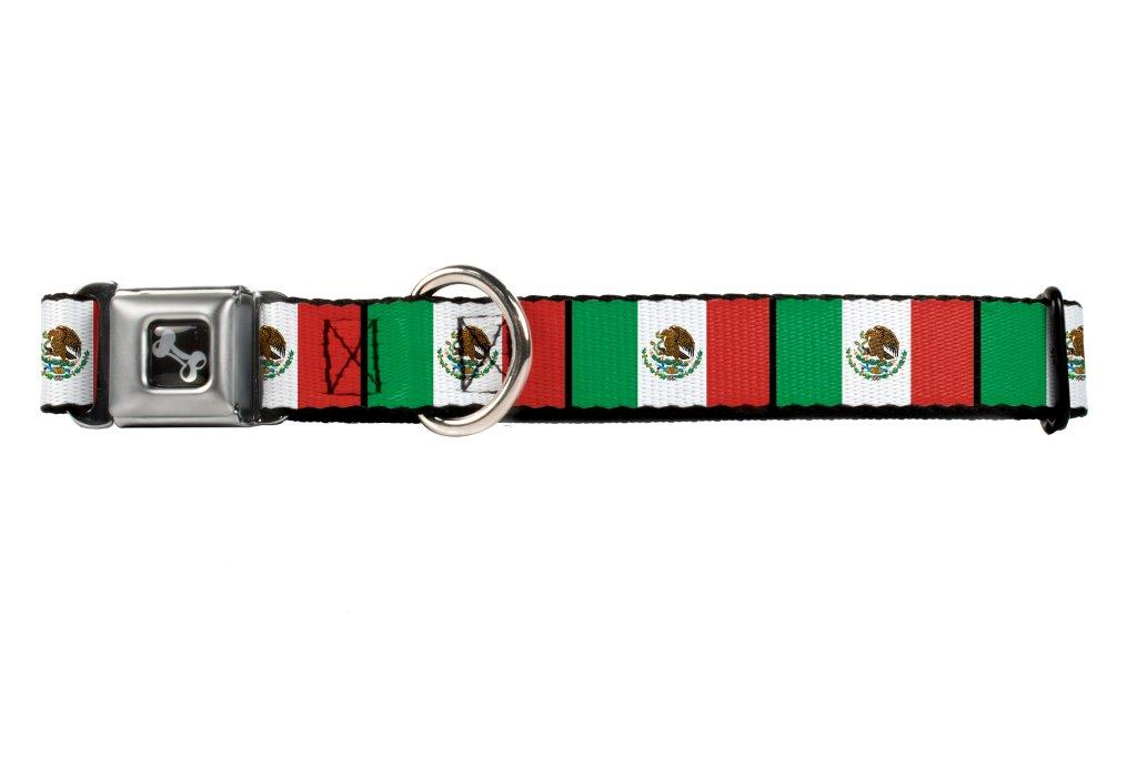 Mexico Mexican Flag Green White Red Fun Animal Seatbelt Pet Collar