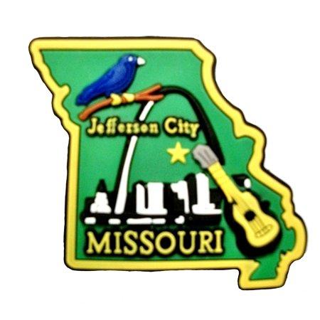Missouri Jefferson City Multi Color Fridge Magnet