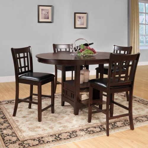 Homelegance Junipero 5-Piece Counter Height Dining Table Set - Cherry