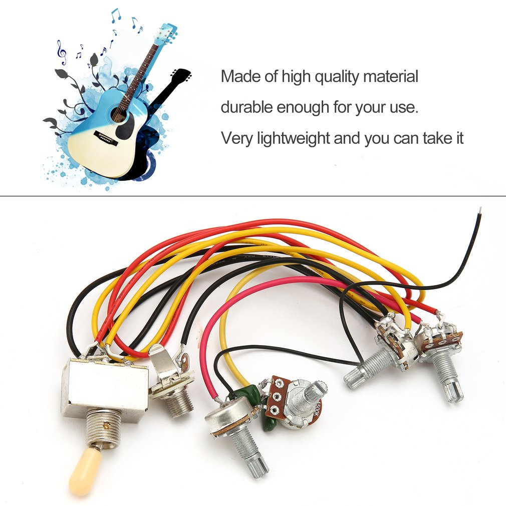 1 Full Set LP SG Electric Guitar Pickup Wiring Harness Potentiometers Kit Replacement 3 Way Toggle Switch Guitar Accessories