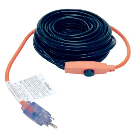 Gutter Heating Cable - M-D 04325 6' Pipe Heating Cable With Thermostat