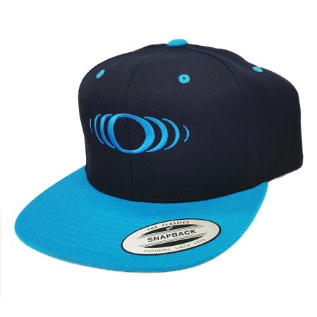 SP Paintball Snapback Hat - Shocker Icon Logo - Black / Cyan