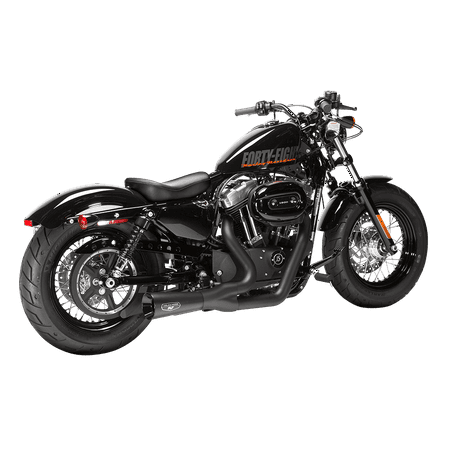 Sportster Exhausts - MAGNAFLOW - 7213202 - Sportster F-Bomb 2 Into 1 Exhaust Black/Black XL 04-17