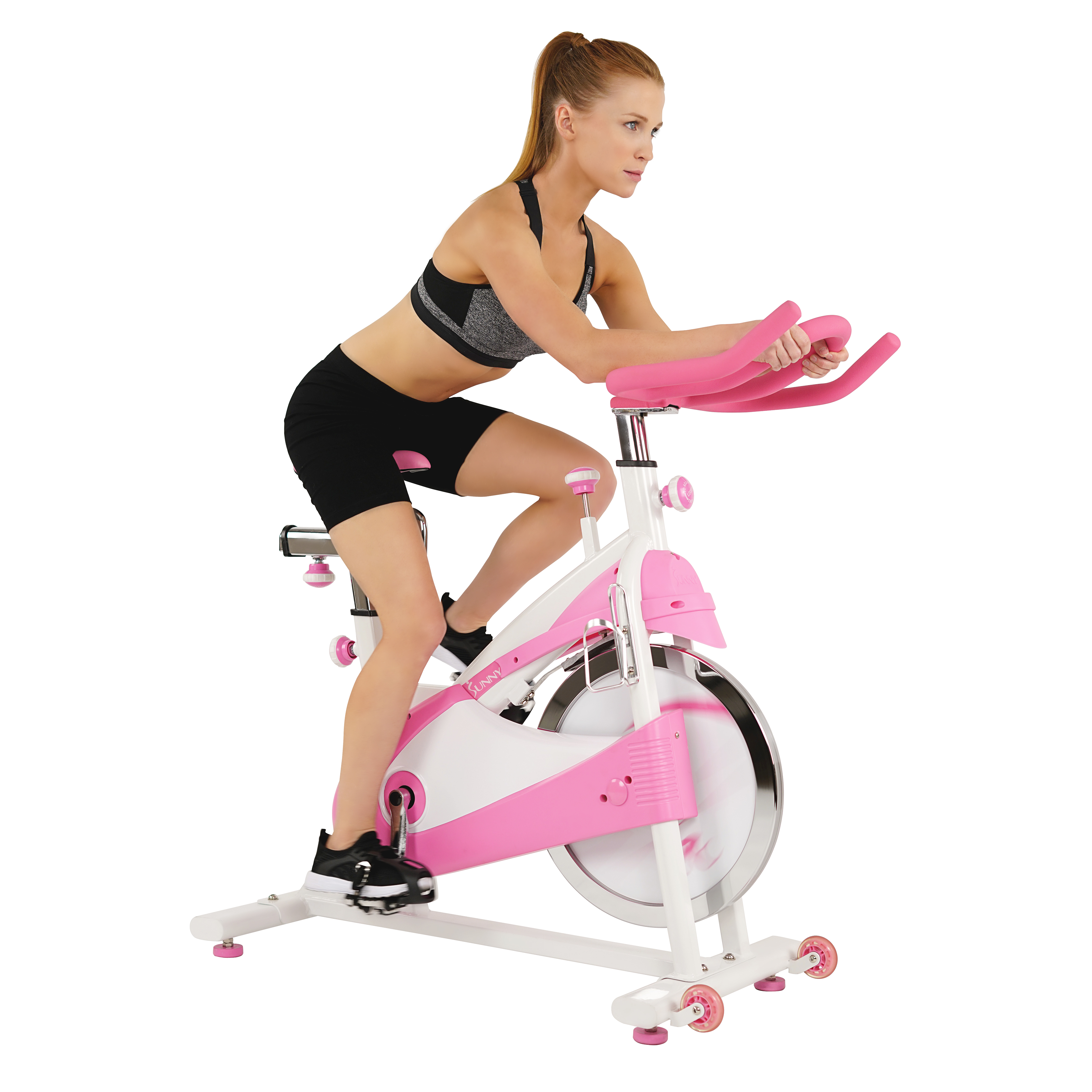 Sunny Health & Fitness P8150 Pink Premium Indoor Exercise Cycling Bike