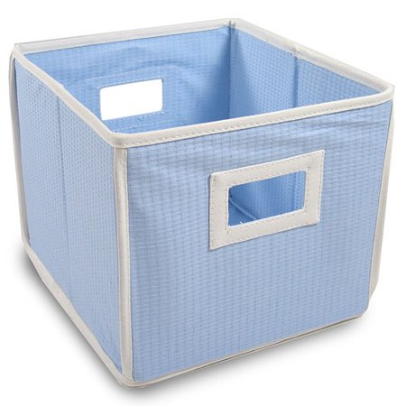 C-8/9 Box - Badger Basket - Waffle Fabric Folding Bin, Blue