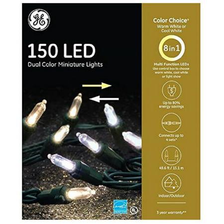GE Color Choice 150 LED Dual Color Miniature Lights Warm/Cool White