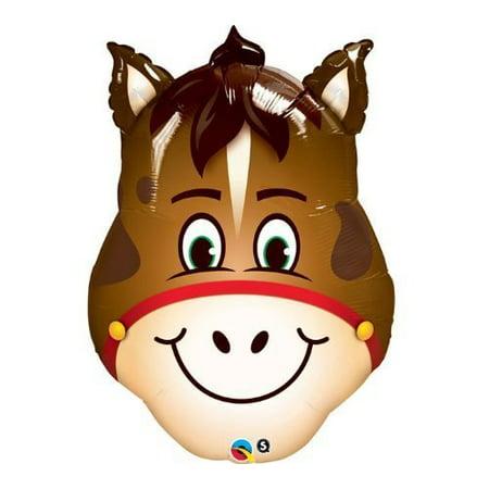 horse farm barn barnyard head shape 32 party animals mylar helium