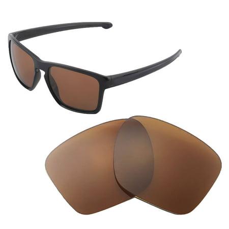 6bf196c61c0 Walleva - Walleva Brown Polarized Replacement Lenses for Oakley Sliver XL  Sunglasses - Walmart.com