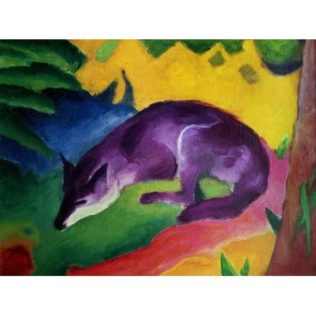 Blue Fox, 1911 Animal Expressionism Print Wall Art By Franz Marc ()