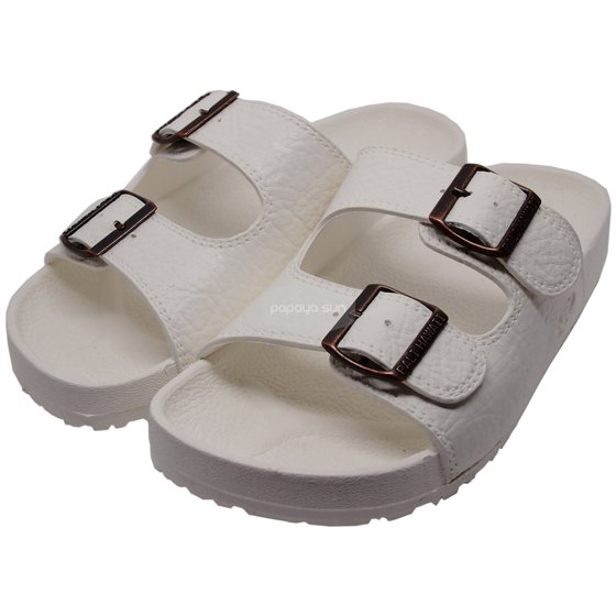 fcbb8d969765 Pali Hawaii Jandals - Pali Hawaii White Jandals with Buckle Jesus ...