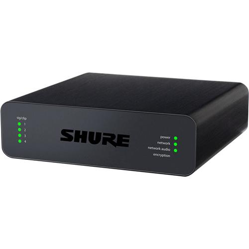 Shure Microflex Advance 4 Channel Dante Mic Line Audio Input Network Interface with XLR Connectivity, PEQ & Audio... by Shure