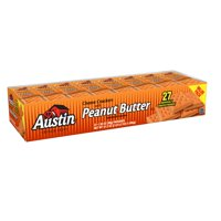 Austin Cheese Crackers w Peanut Butter Sandwich Crackers 1.38 oz 27 ct