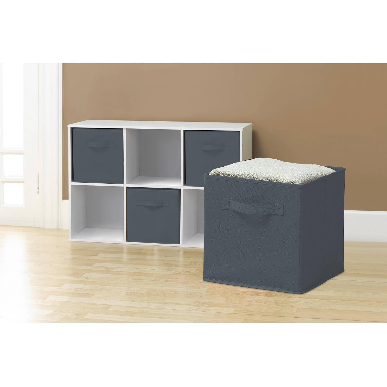 Sorbus Foldable Storage Cube Basket Bin (6pk) Green
