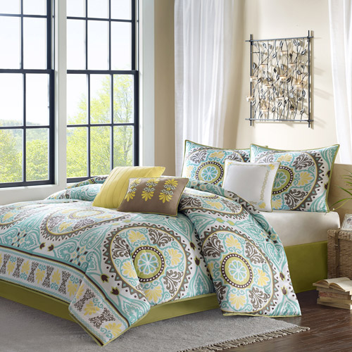 Home Essence Keya Blue 7-Piece Bedding Comforter Set