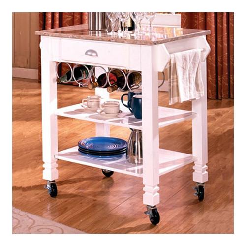 bernards kitchen cart with marble top  walmart, Kitchen design