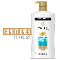 Pantene Conditioner, Smooth and Sleek for Dry Frizzy Hair, 28.9 fl oz