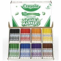 Crayola Classpack Markers - Conical Marker Point Type - Assorted Ink - 200 / Box