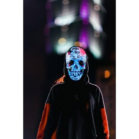 Ram Skull Mask (BEATSYNC Sound Responsive Lighted Skull)