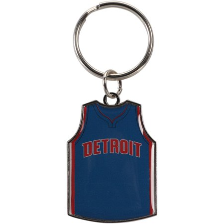 Detroit Pistons Keychain (Detroit Pistons Reversible Home/Away Jersey Keychain - No Size )