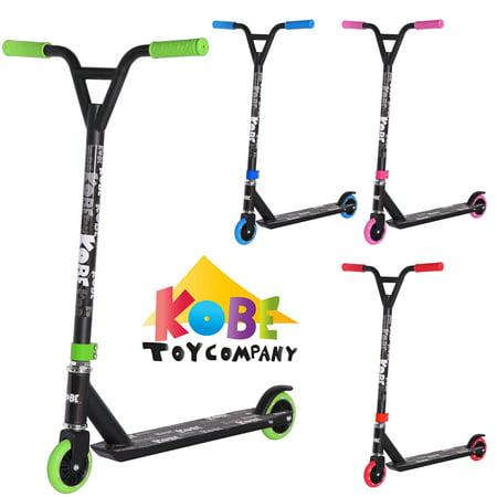 KOBE EDGE Kick Pro Scooter 2 Wheel - Reinforced Steel - Curved T-bar - Teens, Kids 5-yo and above - Green - image 11 de 11