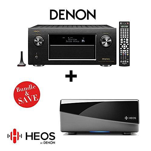 Denon AVR-X7200W Integrated Network AV Receiver + Denon HEOS Link Wireless Pre-Amplifier by Denon