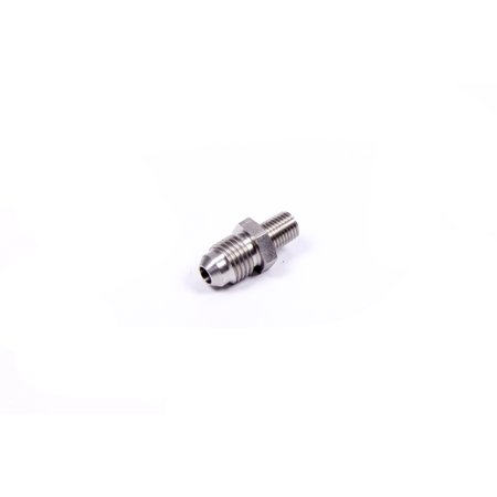 "Image of Aeromotive 4 AN Male to 1/16"" NPT Male Aluminum Straight Fitting P/N 15619"