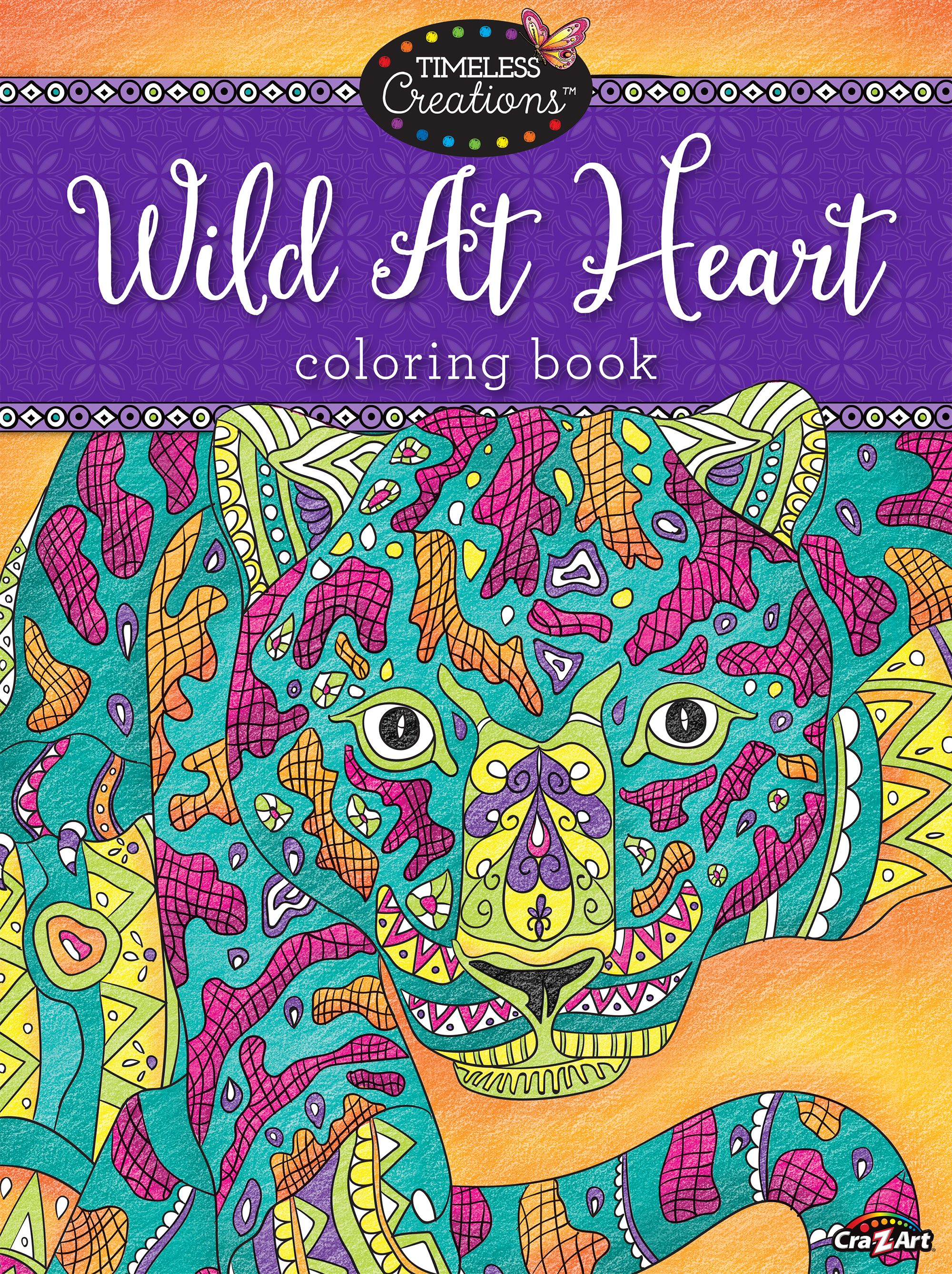 Cra Z Art Wild At Heart Coloring Book Walmart Com