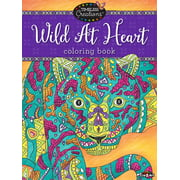 Cra-Z-Art Timeless Creations Coloring Book, Wild At Heart, 64 Pages