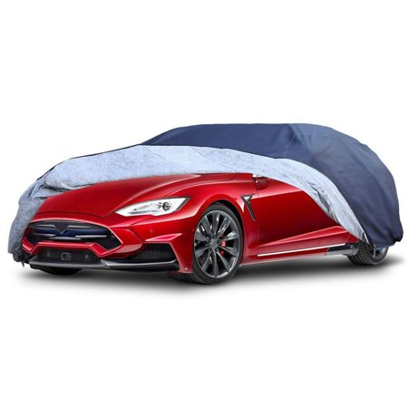 Car Cover Universal Fit All Weather Full Breathable Waterproof Sun UV Rain Snow Dust Wind Outdoor Protector (Fits cars up to 210