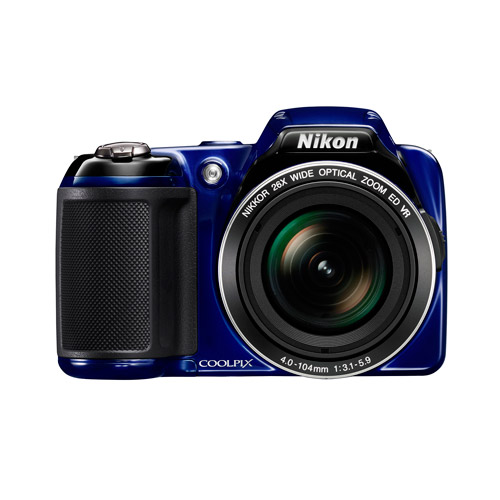 "Nikon COOLPIX L810 Blue 16MP Digital Camera w/ 26x Optical Zoom Lens, 3"" LCD Display, HD Video, 3D Images"
