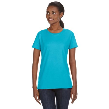 A Product of Anvil Ladies' Midweight Mid-Scoop T-Shirt - POOL BLUE - XL [Saving and Discount on bulk, Code Christo]