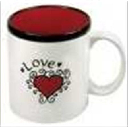 Christian Art Gifts 369937 Mug Love Heart Red Interior With Gift Box