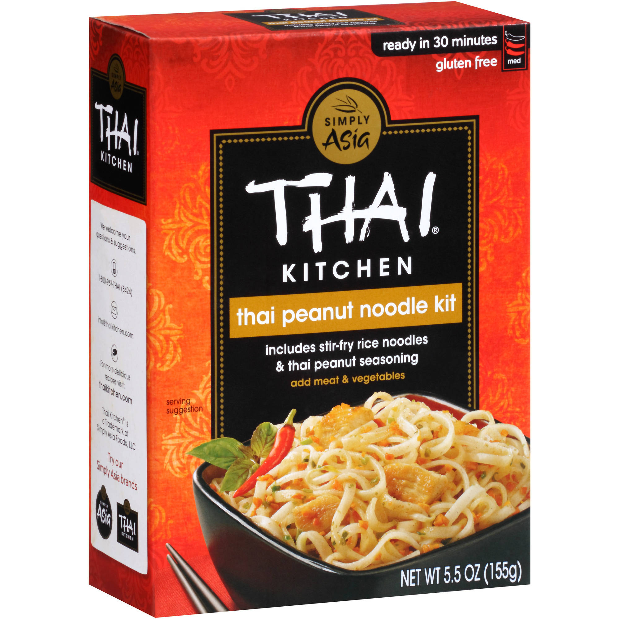 Thai Kitchen Lite Coconut Milk thai kitchen gluten free thai peanut stir fry noodles, 5.5 oz