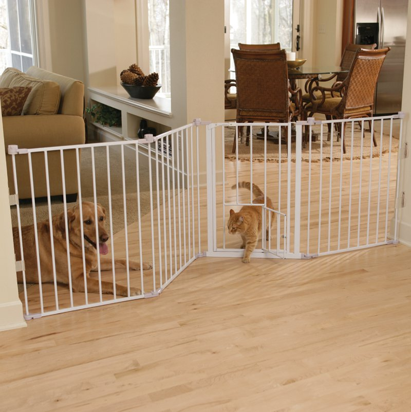 Flexi Walk-Through Gate with Pet Door - Model 1510PW