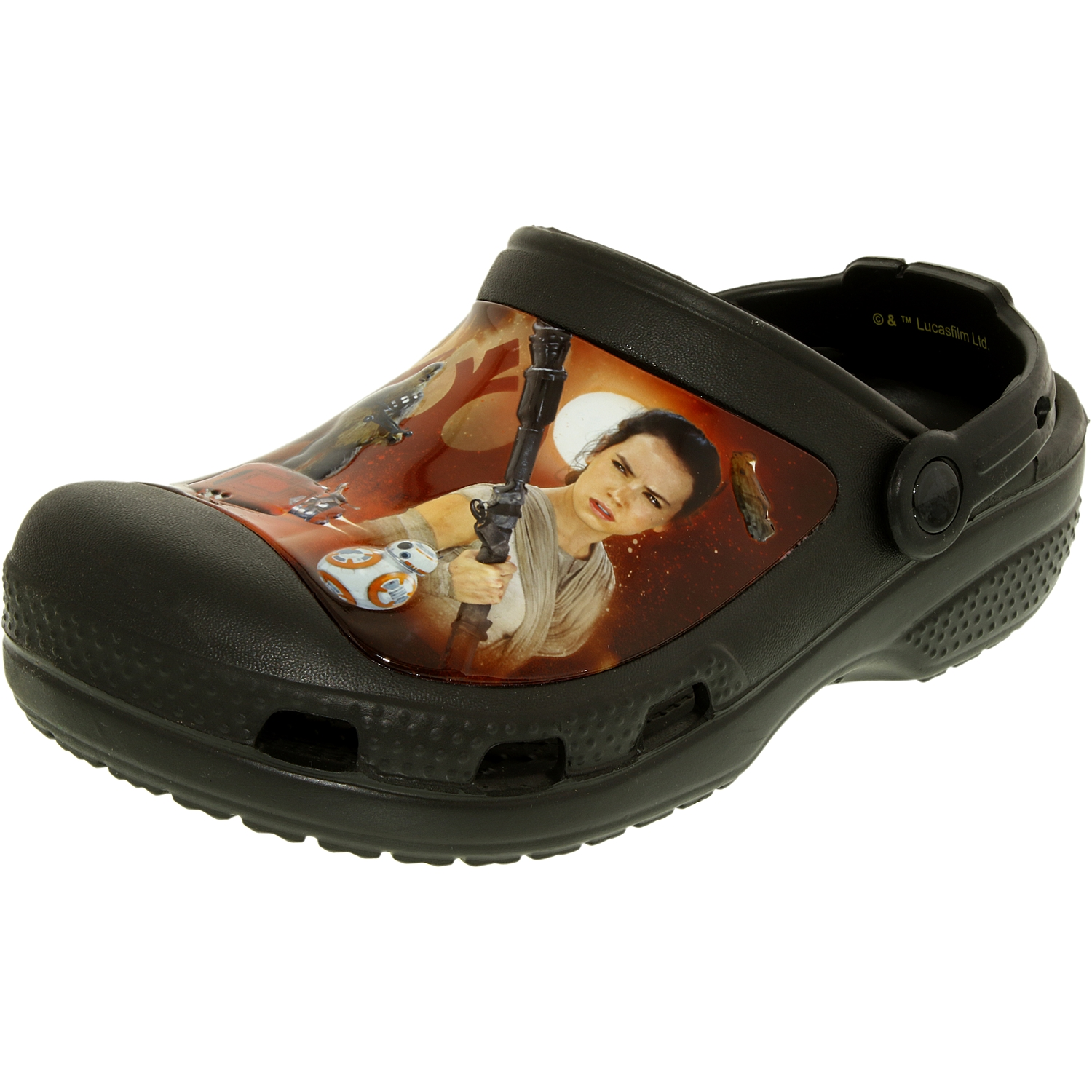 Crocs Boy's Star Wars Black Ankle-High Rubber Flat Shoe 3M by Crocs