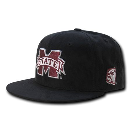 NCAA MSU Mississippi State U Bulldogs Faux Suede Snapback Baseball Caps Hats