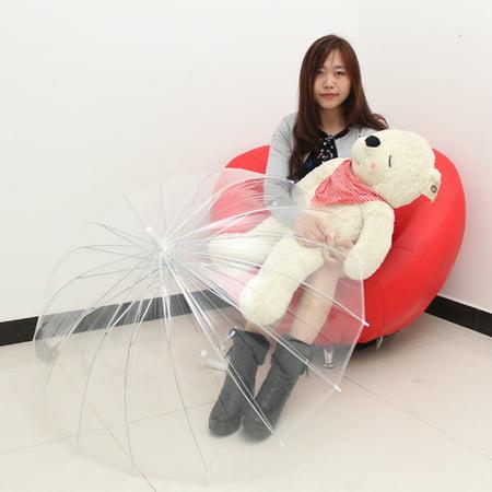 Fashion Transparent Clear Automatic Umbrella Parasol For Wedding Party Favor CM