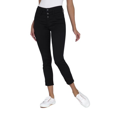 Juniors' Triple Stack Ankle Wide Cuff Crop (7 Cropped)
