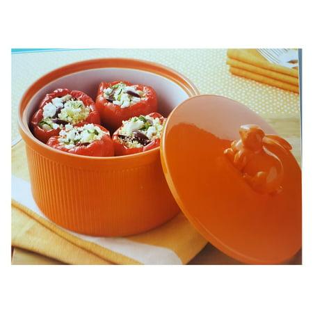 Martha Stewart 3.28 Quart Round Figural Casserole Dish w/ Rabbit Handle