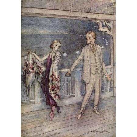 Where the Blue Begins 1922 Excuse me Poster Print by  A Rackham