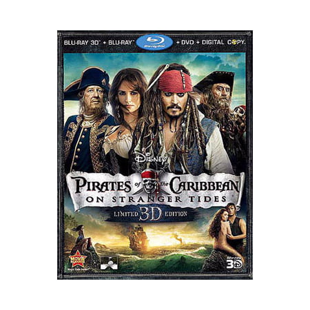 Pirates of the Caribbean: On Stranger Tides (Blu-ray 3D + Blu-ray + DVD + Digital