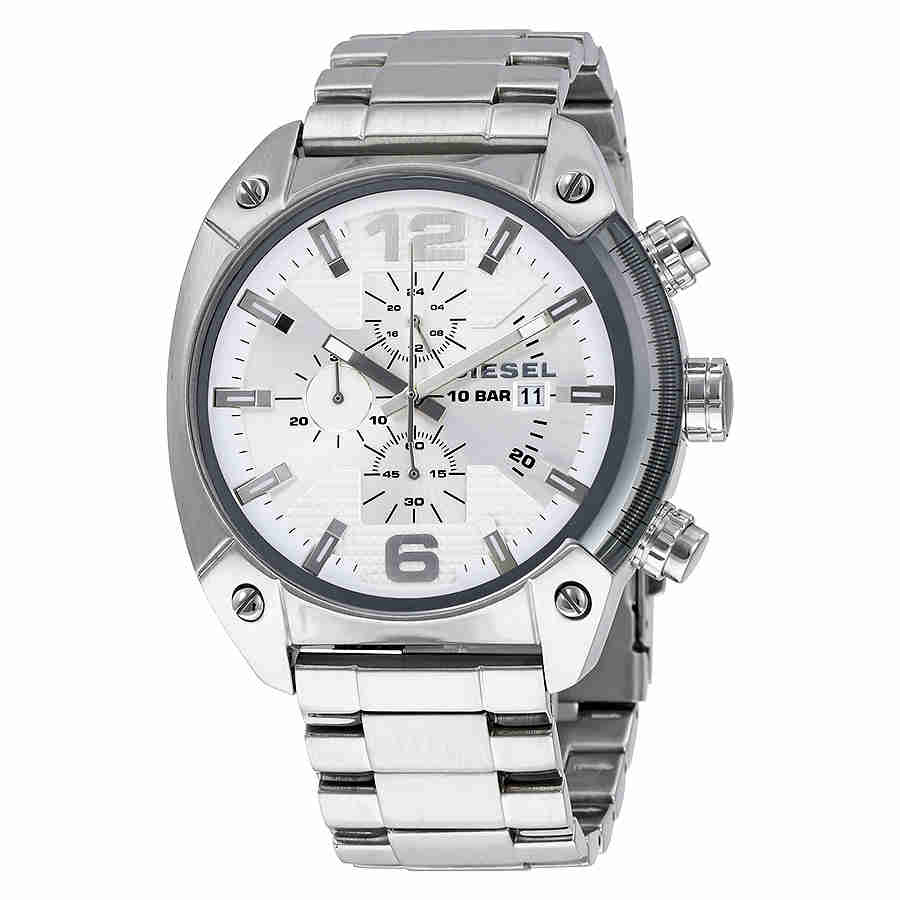 Men's Diesel Overflow Steel Chronograph Watch DZ4203