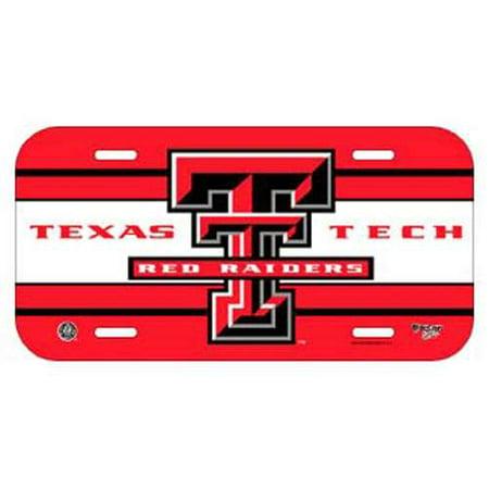 Texas Plastic License Plate (Texas Tech Raiders Plastic License)