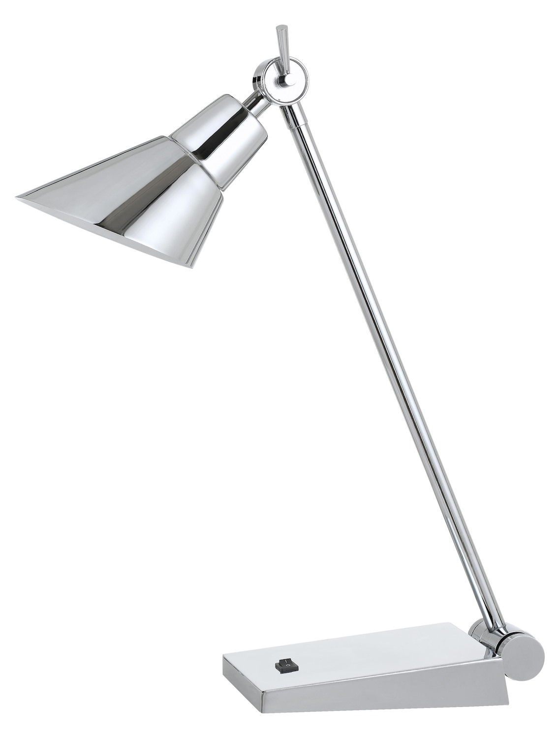 7W 450 Lumen 3000K Led Adjustable Metal Desk Lamp With Rocker Switch by