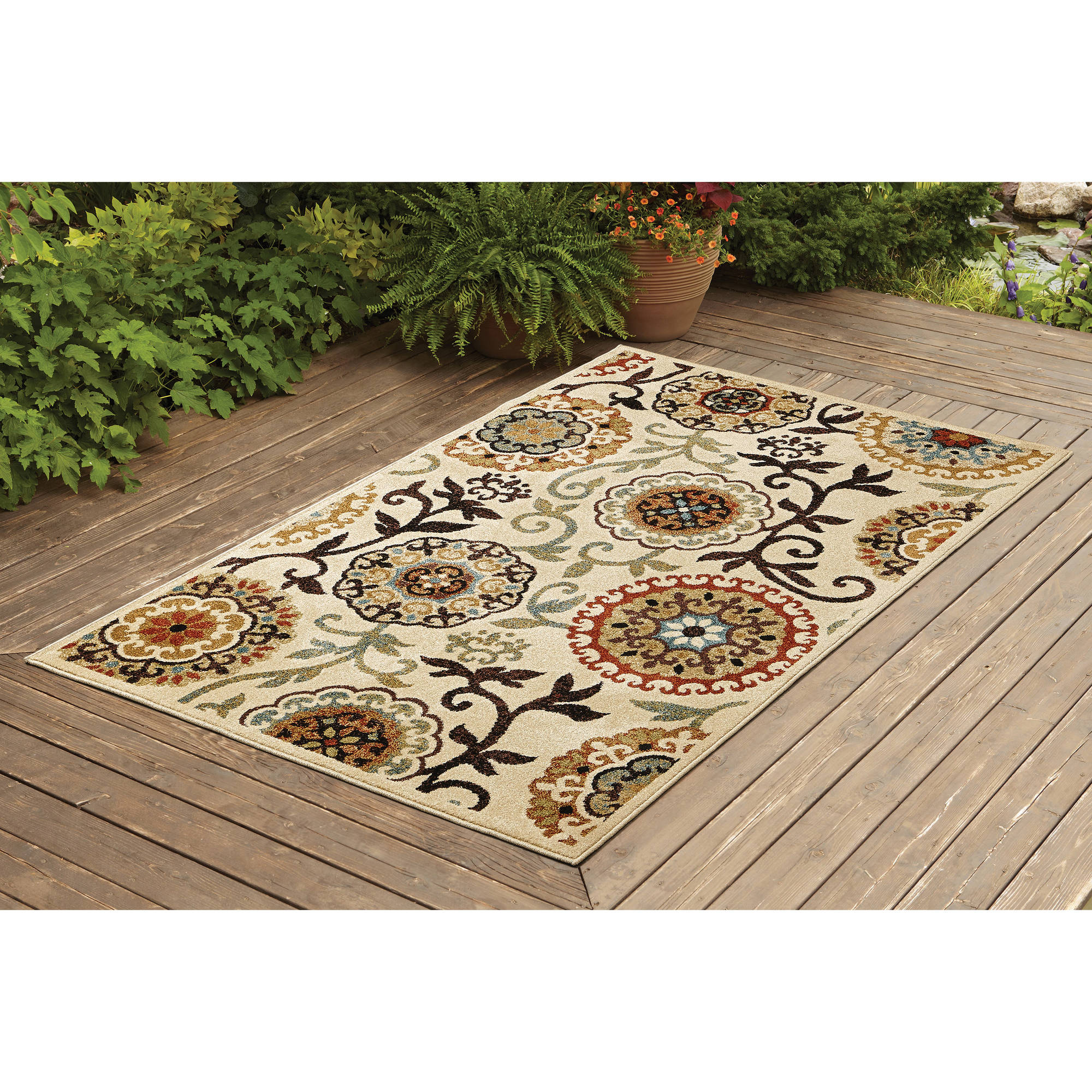 better homes and gardens floral suzani outdoor rug - Better Homes And Gardens Outdoor