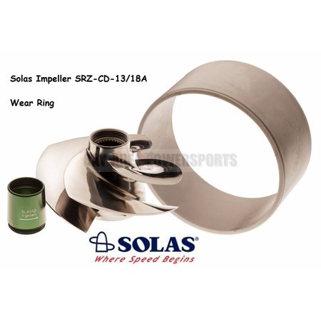 Solas Sea Doo 4-Tec 215 Impeller SRZ-CD-13/18A with Wear Ring GTX RXP RXT - Solas Impellers