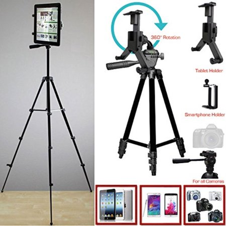 ChargerCity XL Smartphone & Tablet Holder Photo Booth Camera Tripod Kit w/360° Rotation for Apple iPad Pro Air Mini iPhone XR XS MAX X 8 7 Plus Microsoft Surface Samsung Galaxy Tab S8 S9