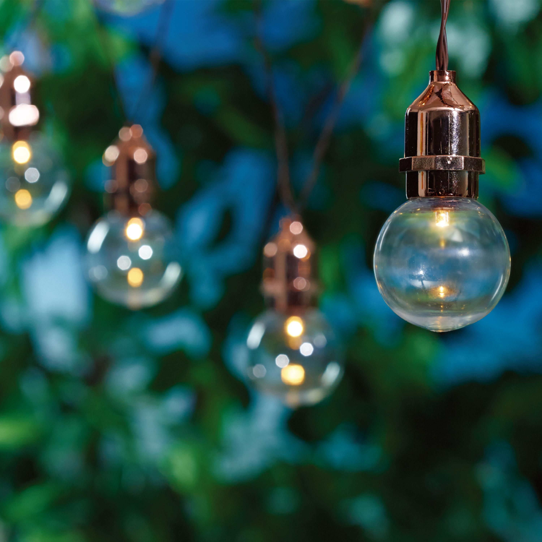 """Mainstays 60"""" Solar LED G50 Outdoor String Light Set"""