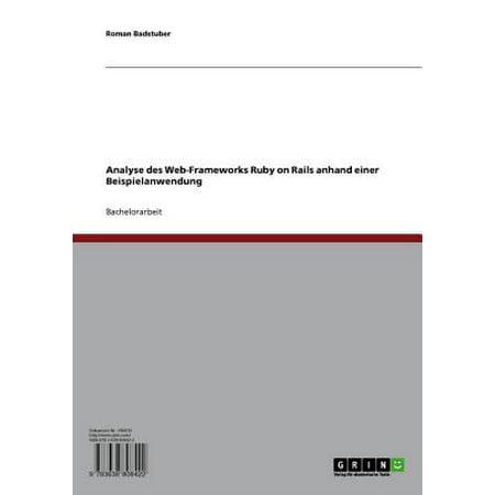 Analyse des Web-Frameworks Ruby on Rails anhand einer Beispielanwendung -